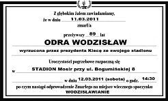 Na sobotnim meczu zapłoną znicze... - Serwis informacyjny z Wodzisławia Śląskiego - naszwodzislaw.com