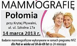 Przyjdź na bezpłatną mammografię w Połomi - Serwis informacyjny z Wodzisławia Śląskiego - naszwodzislaw.com