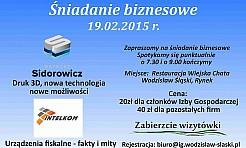 Zbliża się kolejne śniadanie biznesowe  - Serwis informacyjny z Wodzisławia Śląskiego - naszwodzislaw.com