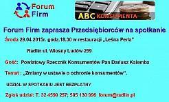 Spotkanie przedsiębiorców z Powiatowym Rzecznikiem Konsumentów - Serwis informacyjny z Wodzisławia Śląskiego - naszwodzislaw.com