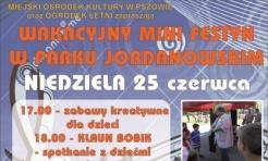 Wybierz się na Wakacyjny Mini Festyn w Parku Jordanowskim - Serwis informacyjny z Wodzisławia Śląskiego - naszwodzislaw.com