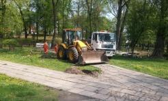 SKM rozpoczęły remont ścieżek w Parku Miejskim - Serwis informacyjny z Wodzisławia Śląskiego - naszwodzislaw.com