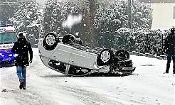 Znów spadł śnieg. Wodzisławska policja apeluje o ostrożność - Serwis informacyjny z Wodzisławia Śląskiego - naszwodzislaw.com