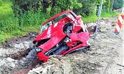 Wypadek w Gorzycach. Jeden z kierowców zasnął za kierownicą - Serwis informacyjny z Wodzisławia Śląskiego - naszwodzislaw.com