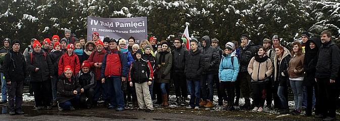 Rajd Pamięci w 70. rocznicę tragicznego marszu śmierci więźniów z Oświęcimia do Wodzisłwia Ślaskiego - Serwis informacyjny z Wodzisławia Śląskiego - naszwodzislaw.com