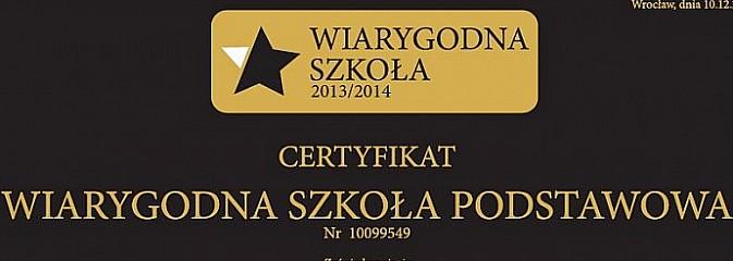 Wodzisławska szkoła z certyfikatem Wiarygodnej Szkoły!  - Serwis informacyjny z Wodzisławia Śląskiego - naszwodzislaw.com