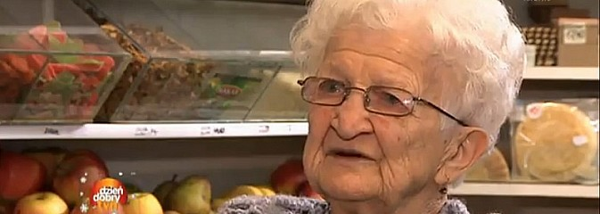 Ma 92-lata i prowadzi swój sklep. Telewizja TVN zrealizowała materiał o wodzisławiance - Serwis informacyjny z Wodzisławia Śląskiego - naszwodzislaw.com
