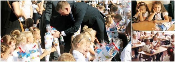 Zabrzmiał pierwszy dzwonek. Uczniowie z Wodzisławia odebrali tradycyjne tyty  - Serwis informacyjny z Wodzisławia Śląskiego - naszwodzislaw.com