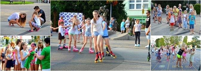 Zabawy przy fontannie z radlińskim MOK-iem - Serwis informacyjny z Wodzisławia Śląskiego - naszwodzislaw.com