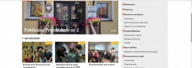 Wodzisławska oświata ma swoją stronę internetową  - Serwis informacyjny z Wodzisławia Śląskiego - naszwodzislaw.com