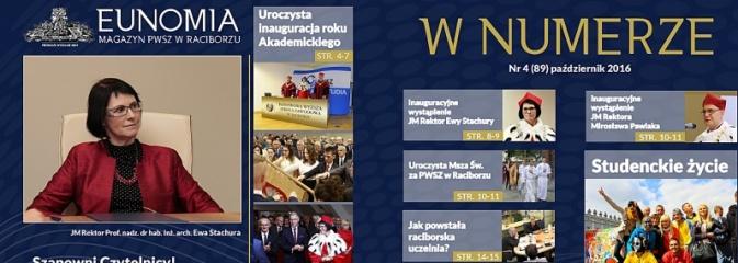Raciborska Uczelnia świętuje 15-lecie. Zobacz jubileuszową Eunomię - Serwis informacyjny z Wodzisławia Śląskiego - naszwodzislaw.com
