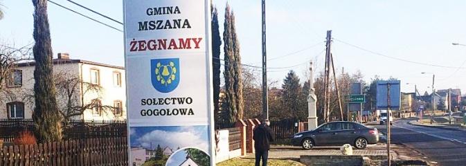 Nowe witacze przy drogach wjazdowych do Mszany i Gogołowej - Serwis informacyjny z Wodzisławia Śląskiego - naszwodzislaw.com
