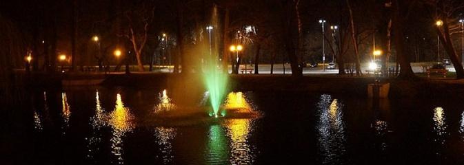 Wodzisław: w parkowym stawie zainstalowano fontannę - Serwis informacyjny z Wodzisławia Śląskiego - naszwodzislaw.com