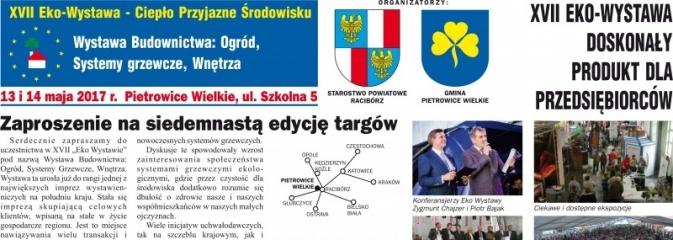 XVII Eko Wystawa w Pietrowicach już 13 i 14 maja. Gmina zaprasza wystawców - Serwis informacyjny z Wodzisławia Śląskiego - naszwodzislaw.com