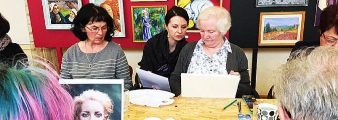 Akwarelowe warsztaty portretu z Kariną Jaźwińską w radlińskim MOK-u - Serwis informacyjny z Wodzisławia Śląskiego - naszwodzislaw.com