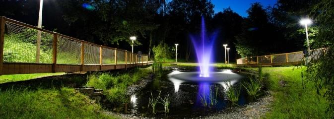 Nowa fontanna w Radlinie. Powstała przy tężni - Serwis informacyjny z Wodzisławia Śląskiego - naszwodzislaw.com