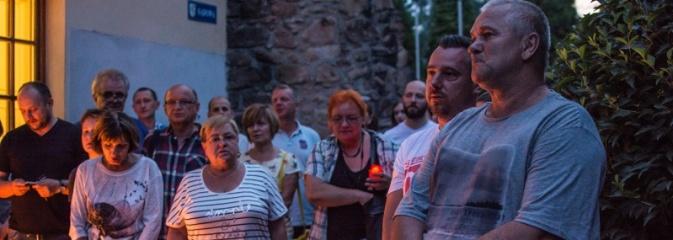 Protest pod Sądem Rejonowym w Wodzisławiu Śląskim - Serwis informacyjny z Wodzisławia Śląskiego - naszwodzislaw.com