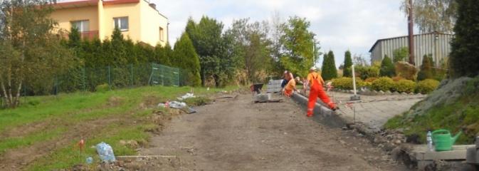 Trwa budowa drogi dojazdowej do kościoła na Wilchwach - Serwis informacyjny z Wodzisławia Śląskiego - naszwodzislaw.com