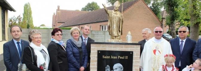 Marklowicka delegacja wzięła udział w uroczystości poświęcenia statuy św. Jana Pawła II we francuskim Barlin - Serwis informacyjny z Wodzisławia Śląskiego - naszwodzislaw.com