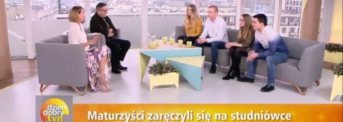 Zaręczyny na studniówce. Dwie pary z naszego powiatu w Dzień Dobry TVN  - Serwis informacyjny z Wodzisławia Śląskiego - naszwodzislaw.com