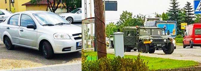 Niecodzienna kolizja w Mszanie. Osobowego chevroleta uszkodził... wojskowy hummer - Serwis informacyjny z Wodzisławia Śląskiego - naszwodzislaw.com