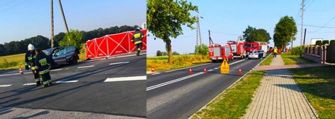 Poważne obrażenia motocyklisty w wypadku w Syryni. Lądował helikopter LPR. FOTO i WIDEO - Serwis informacyjny z Wodzisławia Śląskiego - naszwodzislaw.com