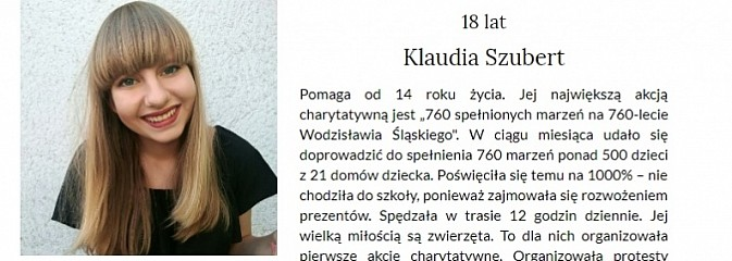 Wodzisławianka jedną z siedmiu kandydatek do tytułu Dziewczyna Roku Glamour?  - Serwis informacyjny z Wodzisławia Śląskiego - naszwodzislaw.com