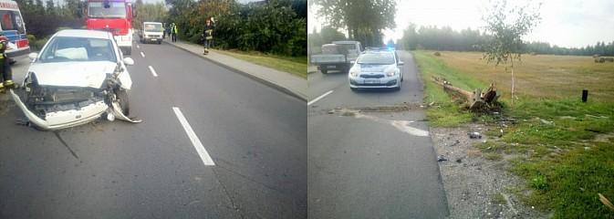 Policja szuka kierowcę fiata, który staranował słup w Turzy  - Serwis informacyjny z Wodzisławia Śląskiego - naszwodzislaw.com
