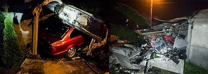 Pijany wjechał w garaż, w którym stało świeżo pomalowane auto - Serwis informacyjny z Wodzisławia Śląskiego - naszwodzislaw.com