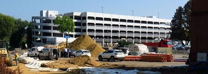 W Rybniku powstaje ogromny wielopoziomowy parking FOTO - Serwis informacyjny z Wodzisławia Śląskiego - naszwodzislaw.com