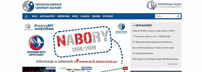 Nowa strona internetowa Wodzisławskiego Centrum Kultury - Serwis informacyjny z Wodzisławia Śląskiego - naszwodzislaw.com