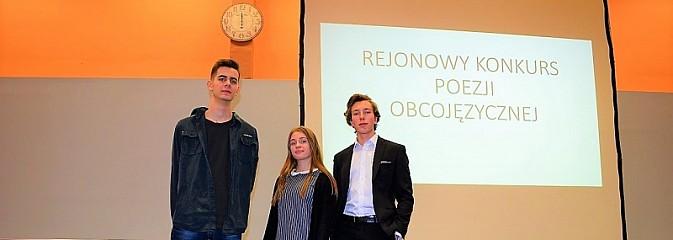 Uczniowie wodzisławskiej Jedynki na podium Konkursu Poezji Obcojęzycznej - Serwis informacyjny z Wodzisławia Śląskiego - naszwodzislaw.com