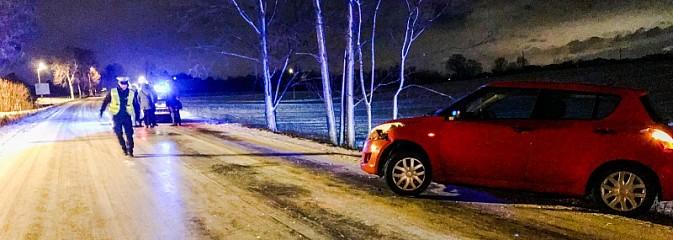 Tańczący na lodzie. DW 933 zamknięta z powodu oblodzenia  - Serwis informacyjny z Wodzisławia Śląskiego - naszwodzislaw.com