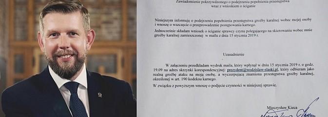 Niedługo i twoja aorta zostanie przebita. Prezydent Kieca odebrał e-mail z groźbą  - Serwis informacyjny z Wodzisławia Śląskiego - naszwodzislaw.com