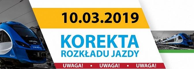 10 marca – korekta rozkładu jazdy na kolei  - Serwis informacyjny z Wodzisławia Śląskiego - naszwodzislaw.com