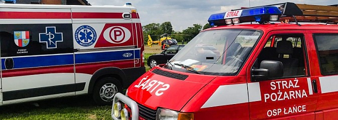 Pięć osób poszkodowanych w pożarze w Łańcach. Użyli biopaliwa podczas grilla [FOTO i WIDEO]  - Serwis informacyjny z Wodzisławia Śląskiego - naszwodzislaw.com