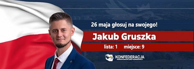 Jakub Gruszka startuje w eurowyborach - apeluje o poparcie wodzisławian - Serwis informacyjny z Wodzisławia Śląskiego - naszwodzislaw.com
