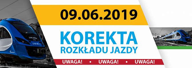 9 czerwca Koleje Śląskie korygują rozkład jazdy  - Serwis informacyjny z Wodzisławia Śląskiego - naszwodzislaw.com
