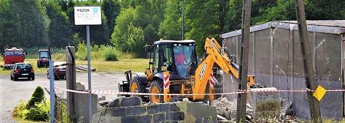 Przy Tuskera w Mszanie przygotowują teren pod inwestycję [FOTO] - Serwis informacyjny z Wodzisławia Śląskiego - naszwodzislaw.com