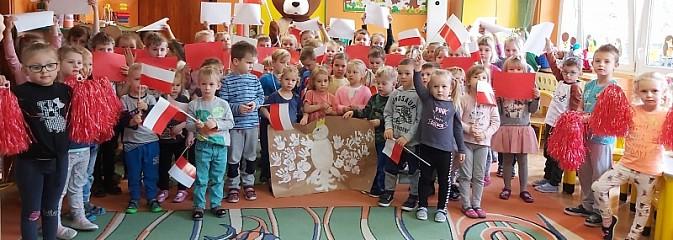 Flagi i  kokardy narodowe w Przedszkolu nr 1 w Pszowie - Serwis informacyjny z Wodzisławia Śląskiego - naszwodzislaw.com