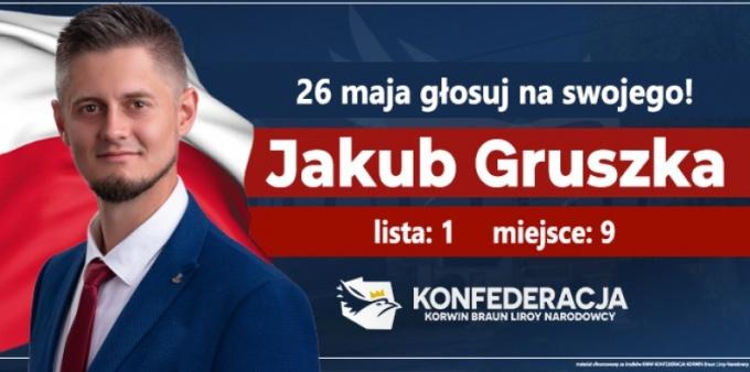 Jakub Gruszka apeluje o poparcie